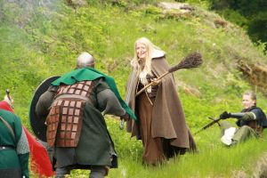 Endkampf der Hexe gegen die Räuber