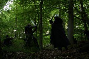 Kampf im Wald